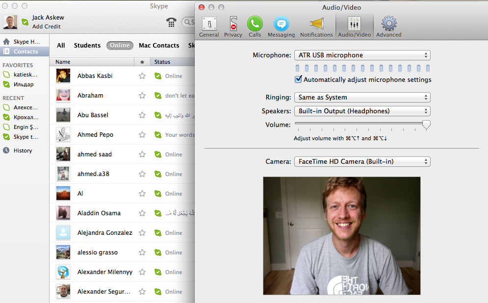 Jack on Skype